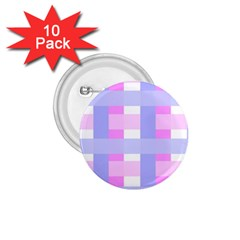 Gingham Checkered Texture Pattern 1.75  Buttons (10 pack)