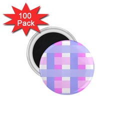 Gingham Checkered Texture Pattern 1.75  Magnets (100 pack)