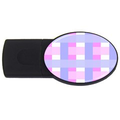 Gingham Checkered Texture Pattern USB Flash Drive Oval (4 GB)