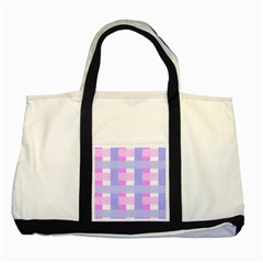 Gingham Checkered Texture Pattern Two Tone Tote Bag