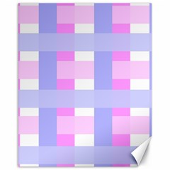 Gingham Checkered Texture Pattern Canvas 16  x 20