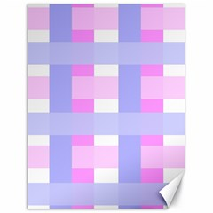 Gingham Checkered Texture Pattern Canvas 18  x 24