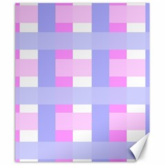 Gingham Checkered Texture Pattern Canvas 20  x 24