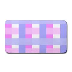 Gingham Checkered Texture Pattern Medium Bar Mats