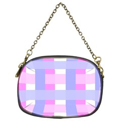 Gingham Checkered Texture Pattern Chain Purses (One Side)