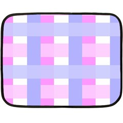 Gingham Checkered Texture Pattern Double Sided Fleece Blanket (Mini)