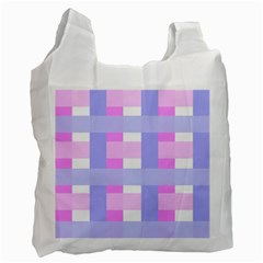 Gingham Checkered Texture Pattern Recycle Bag (Two Side)