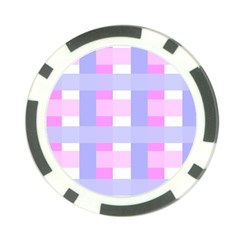 Gingham Checkered Texture Pattern Poker Chip Card Guard (10 pack)