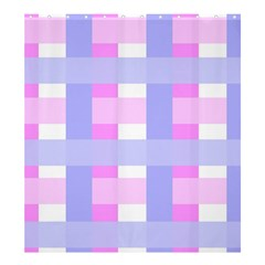 Gingham Checkered Texture Pattern Shower Curtain 66  x 72  (Large)