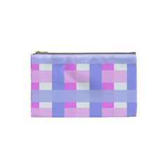 Gingham Checkered Texture Pattern Cosmetic Bag (Small)