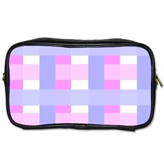Gingham Checkered Texture Pattern Toiletries Bags 2-Side