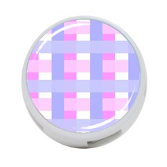 Gingham Checkered Texture Pattern 4-Port USB Hub (Two Sides)