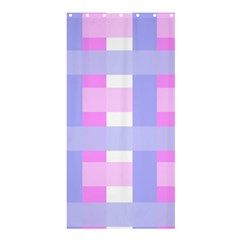 Gingham Checkered Texture Pattern Shower Curtain 36  x 72  (Stall)