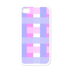 Gingham Checkered Texture Pattern Apple iPhone 4 Case (White)