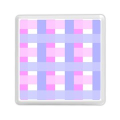 Gingham Checkered Texture Pattern Memory Card Reader (Square)