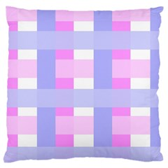Gingham Checkered Texture Pattern Large Cushion Case (One Side)