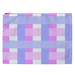 Gingham Checkered Texture Pattern Cosmetic Bag (XXL)