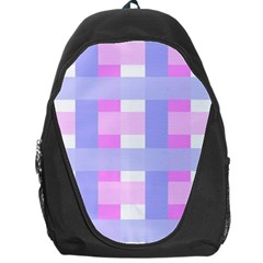 Gingham Checkered Texture Pattern Backpack Bag