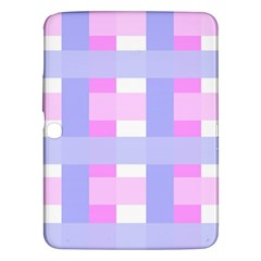 Gingham Checkered Texture Pattern Samsung Galaxy Tab 3 (10.1 ) P5200 Hardshell Case