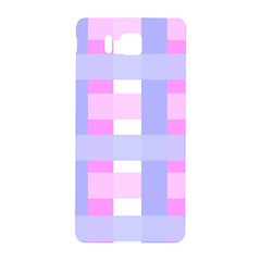 Gingham Checkered Texture Pattern Samsung Galaxy Alpha Hardshell Back Case
