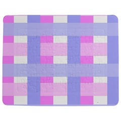 Gingham Checkered Texture Pattern Jigsaw Puzzle Photo Stand (Rectangular)