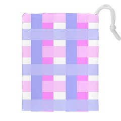 Gingham Checkered Texture Pattern Drawstring Pouches (XXL)