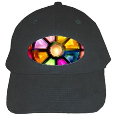 Glass Colorful Stained Glass Black Cap
