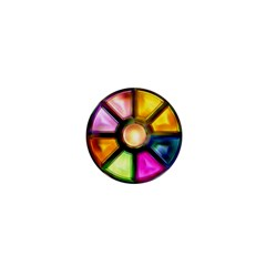 Glass Colorful Stained Glass 1  Mini Magnets