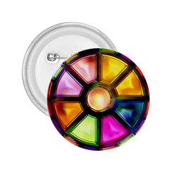 Glass Colorful Stained Glass 2.25  Buttons