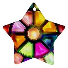 Glass Colorful Stained Glass Ornament (Star)