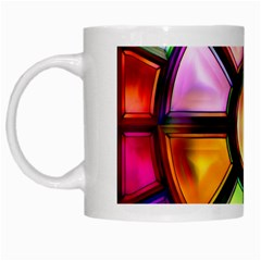 Glass Colorful Stained Glass White Mugs