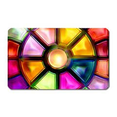 Glass Colorful Stained Glass Magnet (Rectangular)