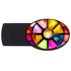 Glass Colorful Stained Glass USB Flash Drive Oval (2 GB)