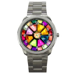 Glass Colorful Stained Glass Sport Metal Watch