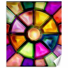 Glass Colorful Stained Glass Canvas 8  x 10