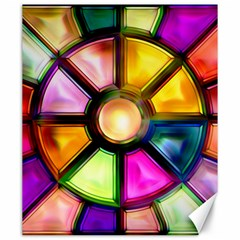 Glass Colorful Stained Glass Canvas 20  x 24
