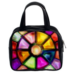 Glass Colorful Stained Glass Classic Handbags (2 Sides)