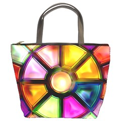 Glass Colorful Stained Glass Bucket Bags