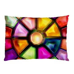 Glass Colorful Stained Glass Pillow Case