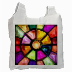 Glass Colorful Stained Glass Recycle Bag (Two Side)