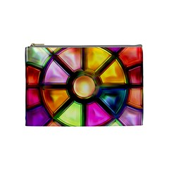 Glass Colorful Stained Glass Cosmetic Bag (Medium)