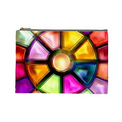 Glass Colorful Stained Glass Cosmetic Bag (Large)