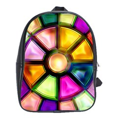 Glass Colorful Stained Glass School Bags(Large)