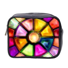 Glass Colorful Stained Glass Mini Toiletries Bag 2-Side