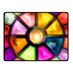 Glass Colorful Stained Glass Fleece Blanket (Small)