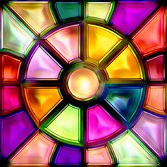 Glass Colorful Stained Glass Magic Photo Cubes