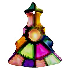 Glass Colorful Stained Glass Christmas Tree Ornament (Two Sides)
