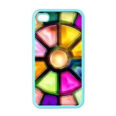 Glass Colorful Stained Glass Apple iPhone 4 Case (Color)