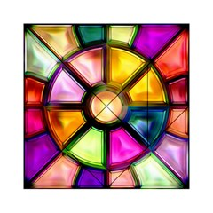 Glass Colorful Stained Glass Acrylic Tangram Puzzle (6  x 6 )