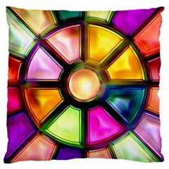 Glass Colorful Stained Glass Large Cushion Case (One Side)